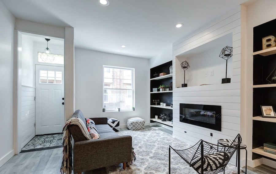 house for sale west passyunk rehabbed row living room