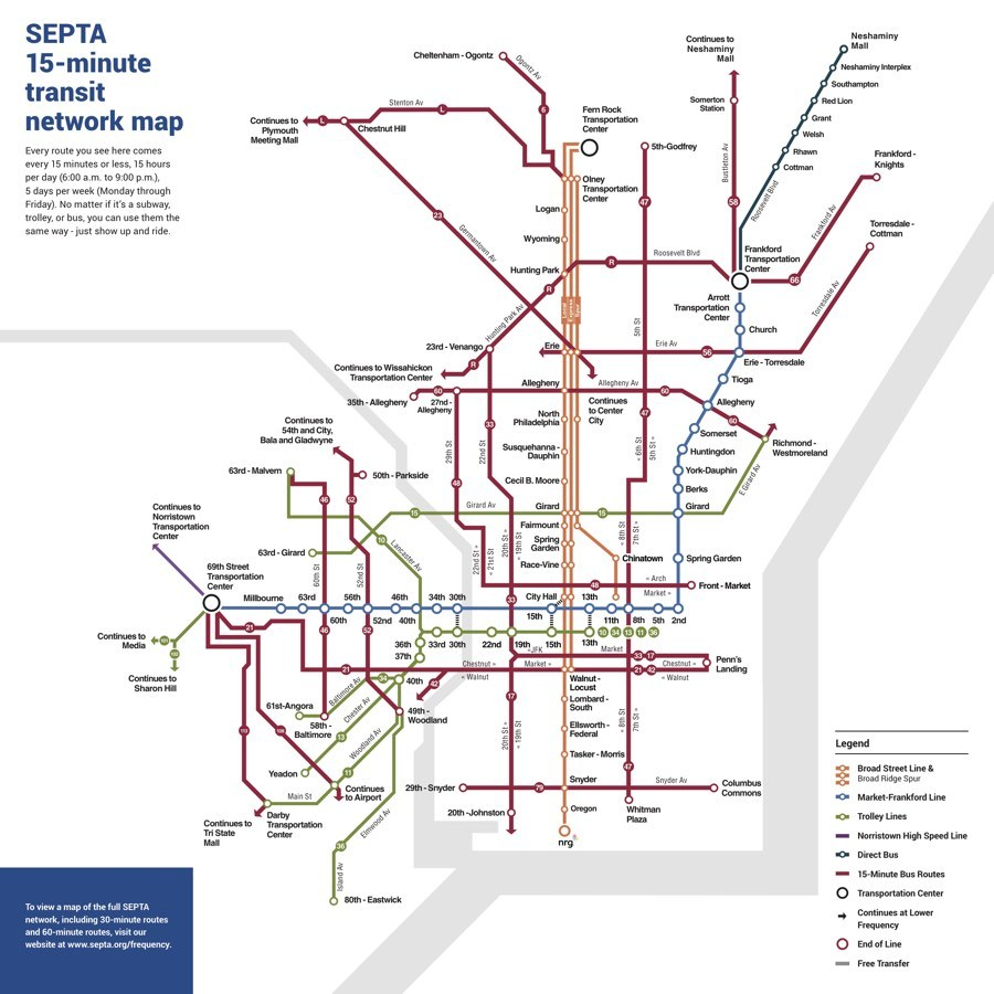 Philly Subway Map.New Septa Map Prototypes Aim To Make Riders Rethink The System