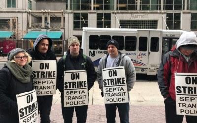 septa transit police strike