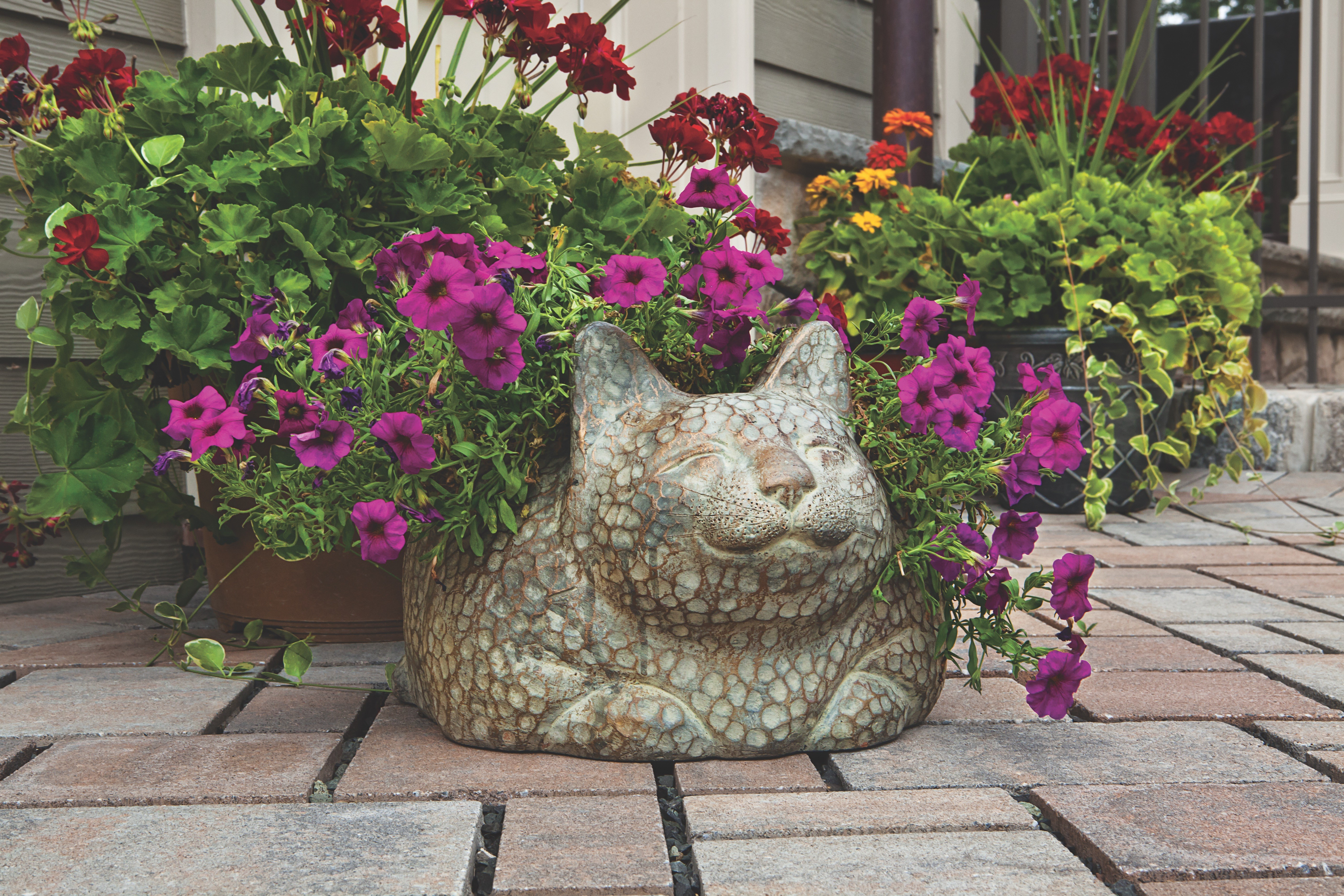 biophilic design examples planter and pavers