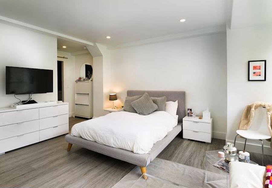 condo for sale rittenhouse square studio living area and bathroom entrance