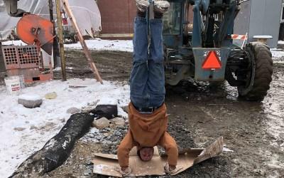 construction bike yoga