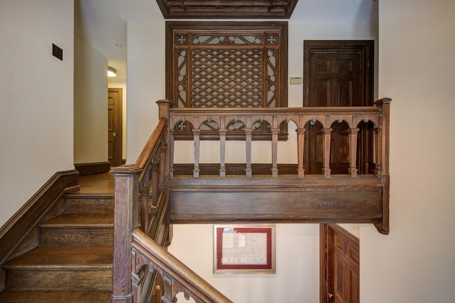 house for sale chestnut hill tudor revival third-floor hallway