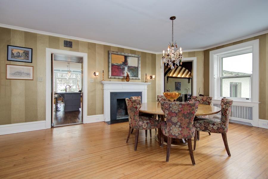 house for sale chestnut hill tudor revival dining room