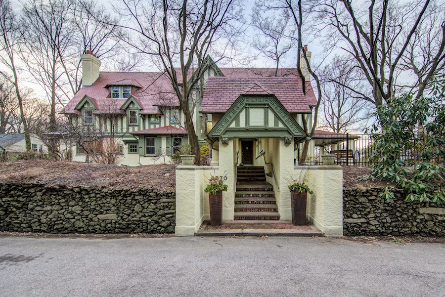 house for sale chestnut hill tudor revival exterior front