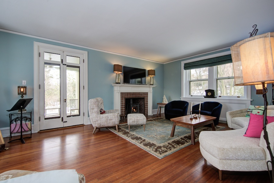 house for sale chestnut hill tudor revival living room
