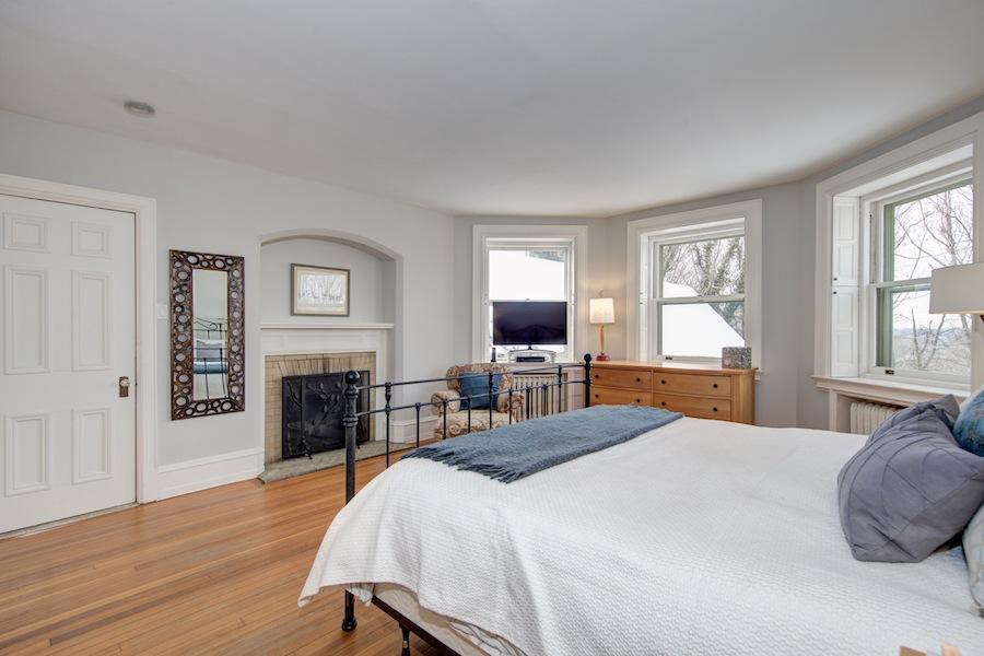house for sale chestnut hill tudor revival master bedroom
