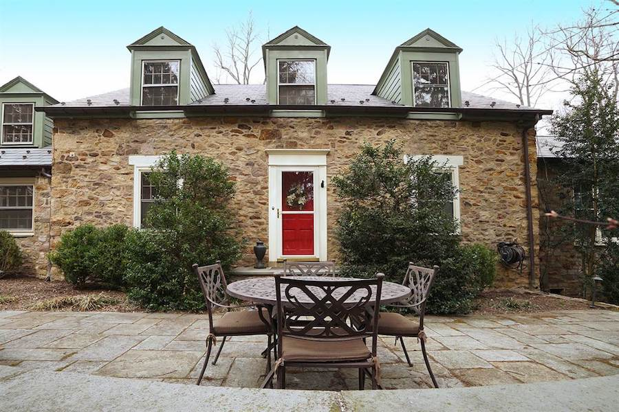 house for sale doylestown converted schoolhouse exterior front