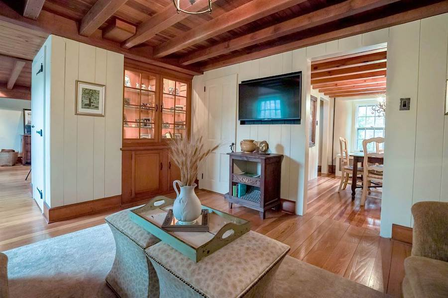 house for sale doylestown converted schoolhouse family room