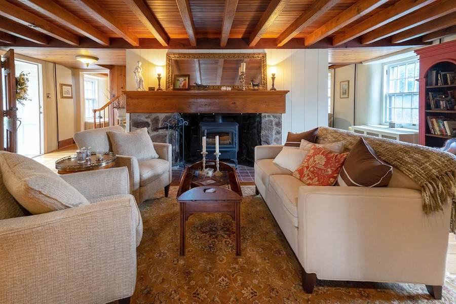 house for sale doylestown converted schoolhouse living room