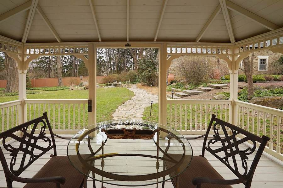 house for sale doylestown converted schoolhouse gazebo