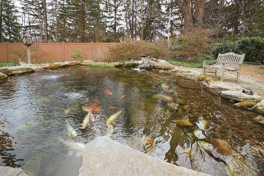 house for sale doylestown converted schoolhouse koi pond