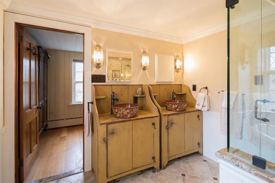 house for sale doylestown converted schoolhouse master bathroom vanities