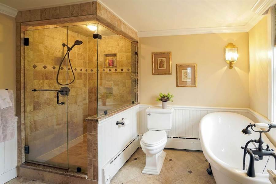 house for sale doylestown converted schoolhouse master bathroom