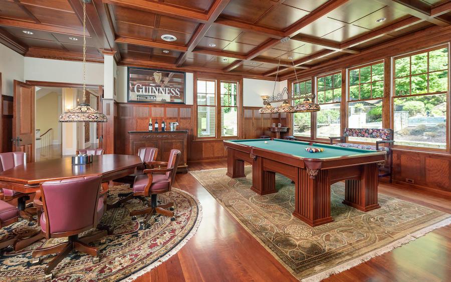 house for sale malvern shingle style billiard room