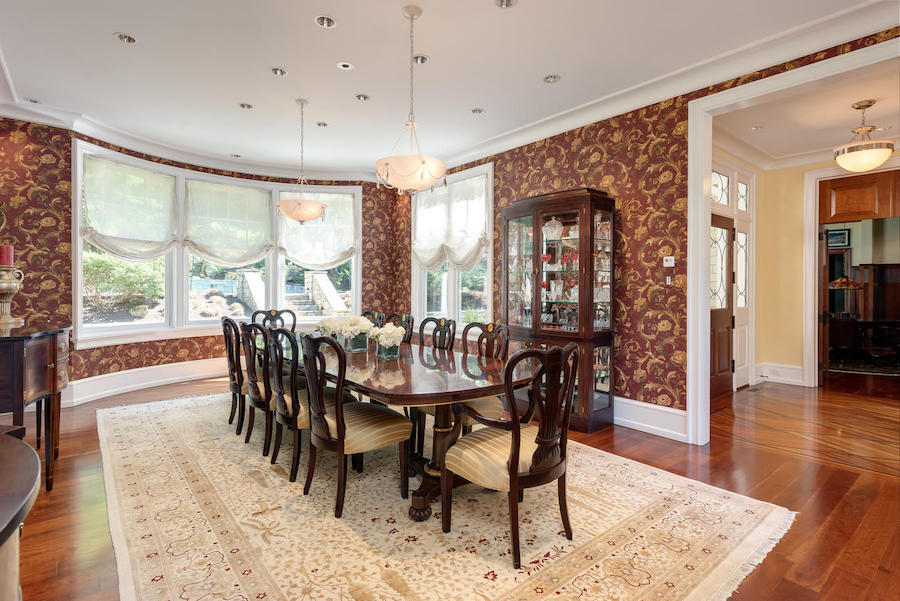 house for sale malvern shingle style dining room