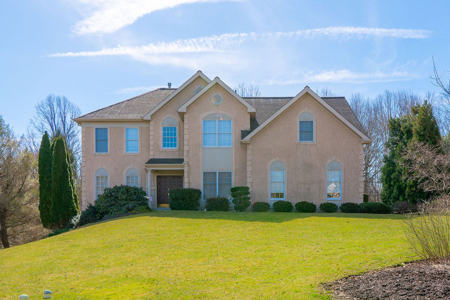 house for sale newtown square accessible neotraditional exterior front