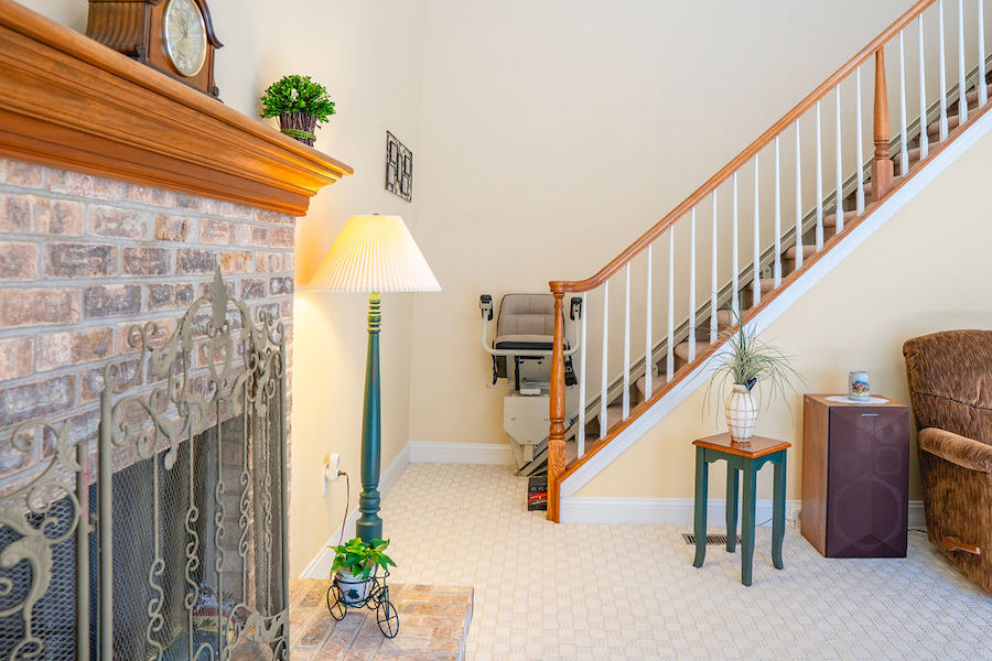 house for sale newtown square accessible neotraditional chair lift