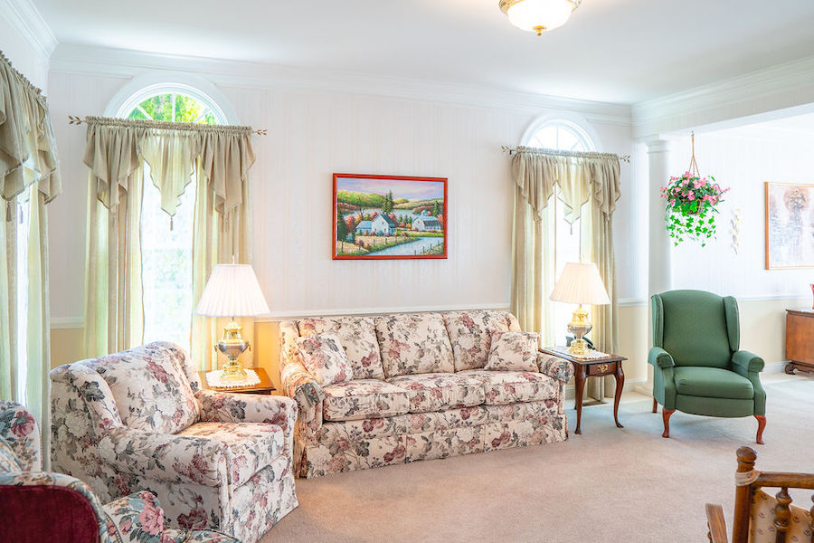 house for sale newtown square accessible neotraditional living room