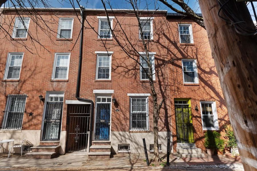 house for sale rittenhouse renovated row house exterior front