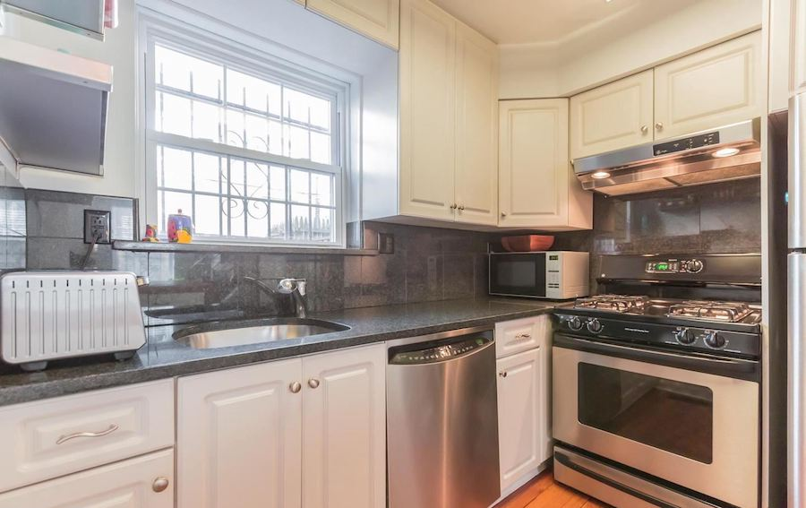 house for sale rittenhouse renovated row house kitchen