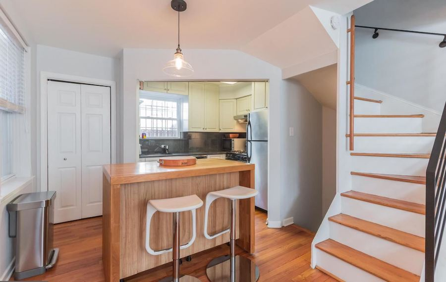 house for sale rittenhouse renovated row house kitchen and island bar