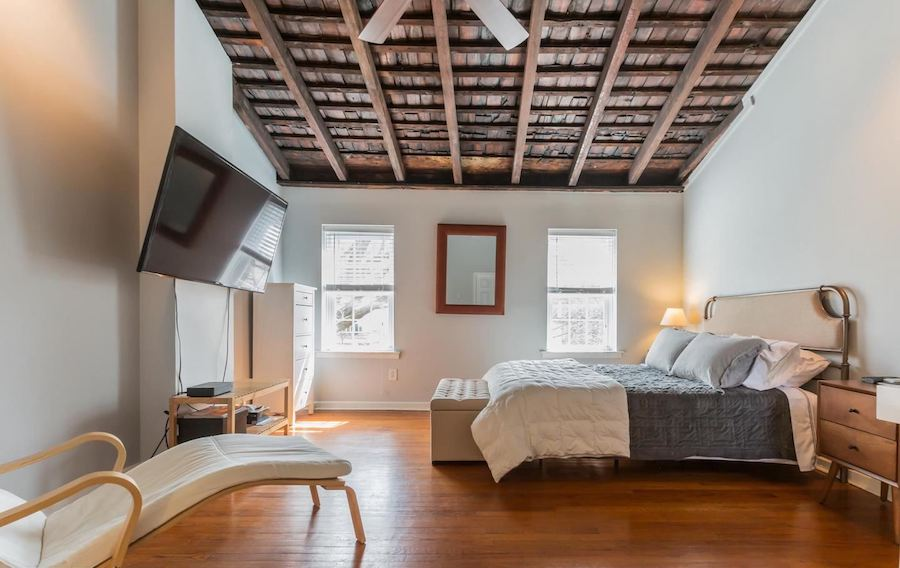 house for sale rittenhouse renovated row house master bedroom