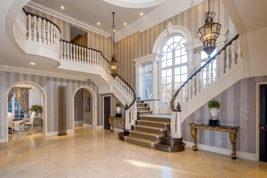house for sale villanova tudor mansion foyer