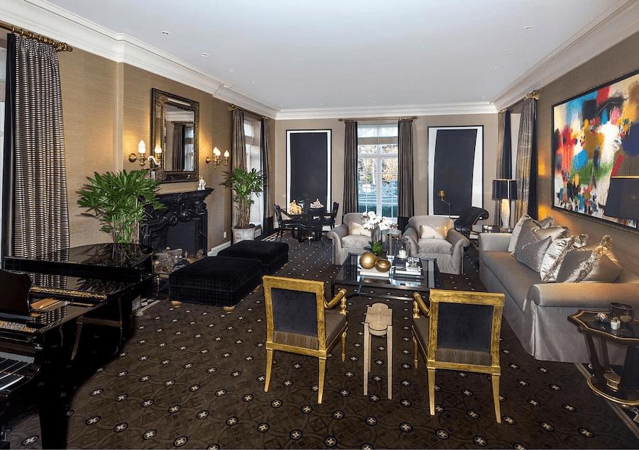 house for sale villanova tudor mansion living room