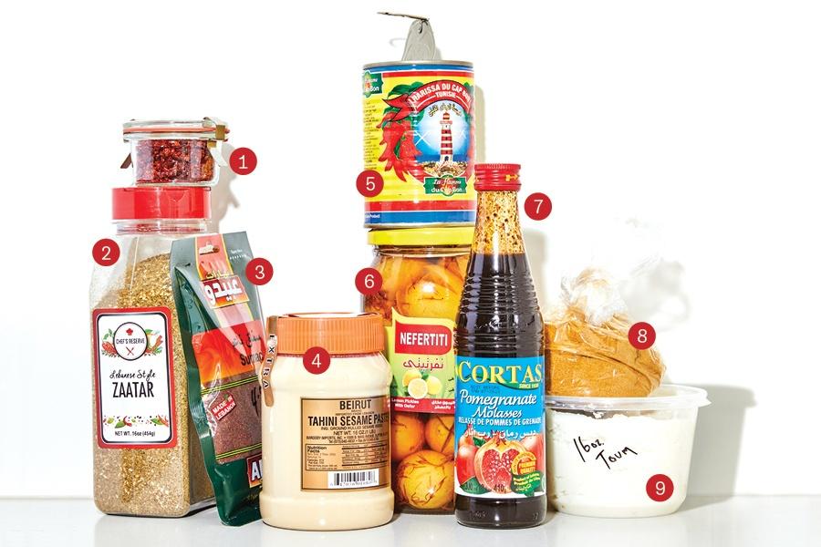 Middle Eastern ingredients
