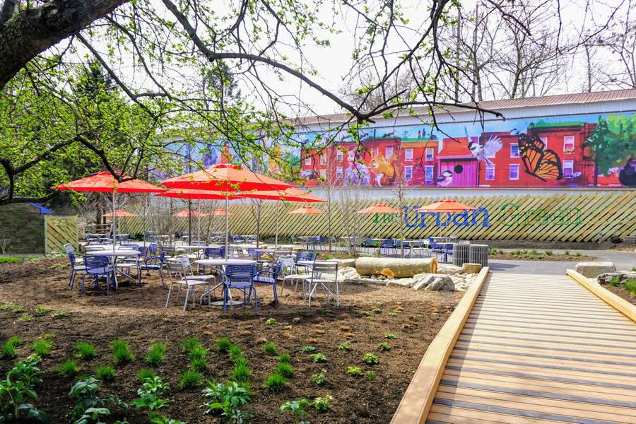 philadelphia zoo urban green food beer garden