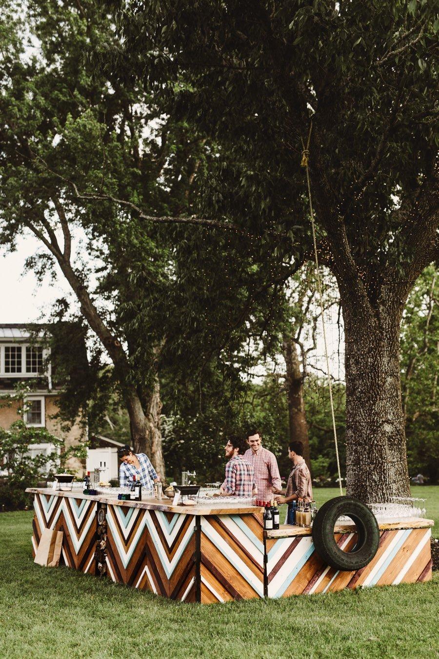 chevron wedding bar