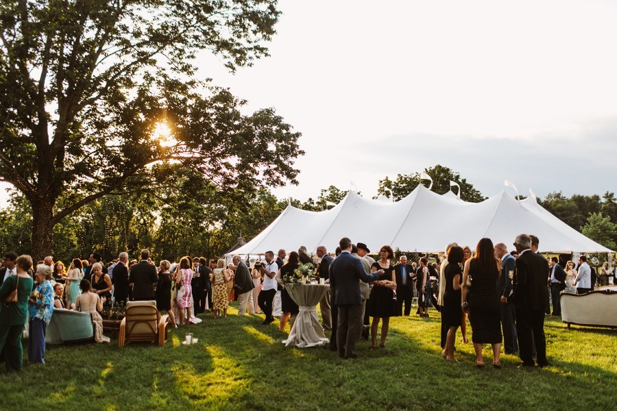 outdoor tented wedding at private residence