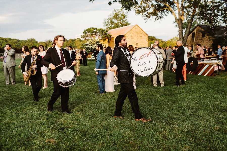 marching band at a wedding