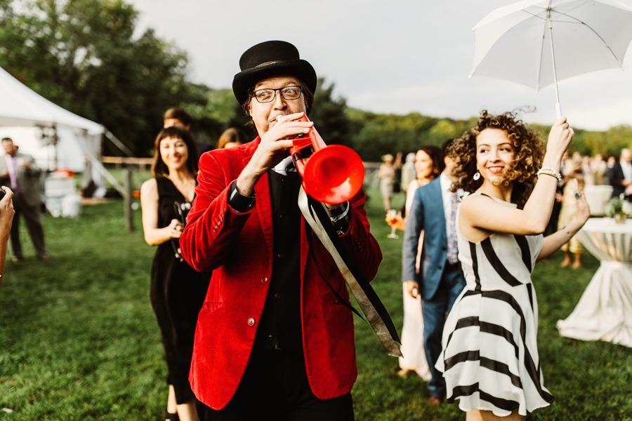 marching band at a wedding