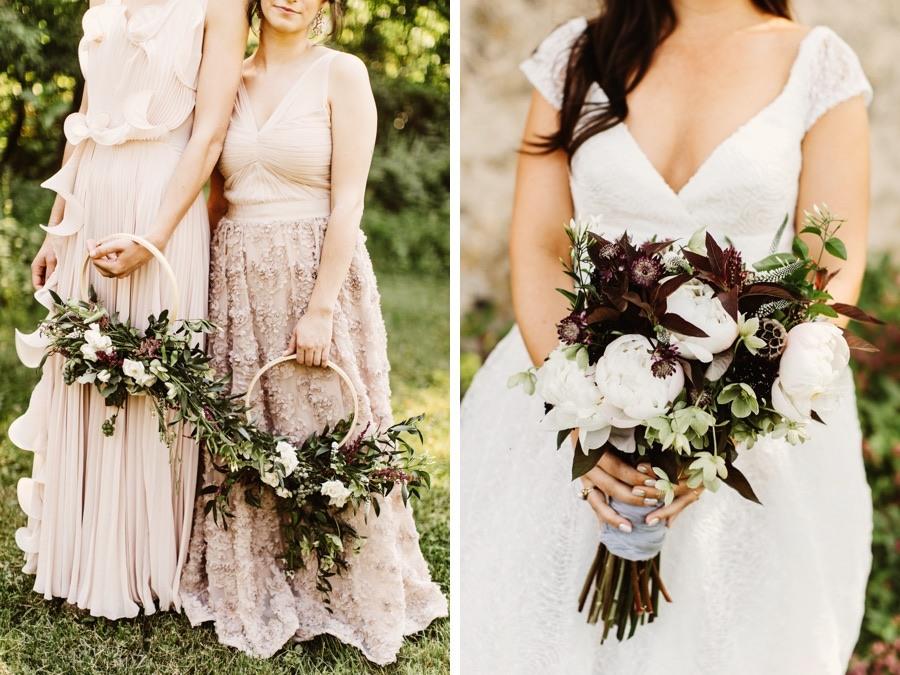 bridesmaid hoop bouquets