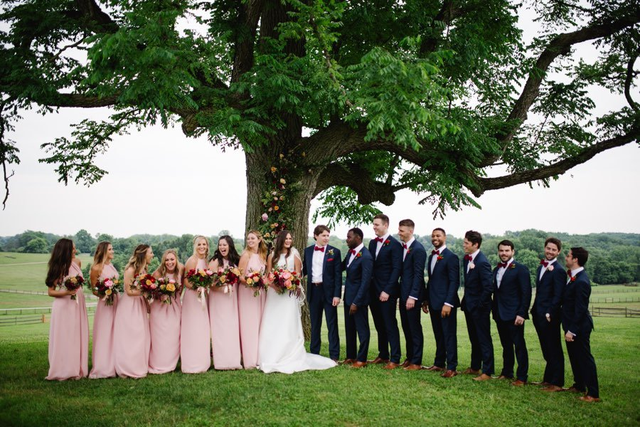 preppy bridal party attire