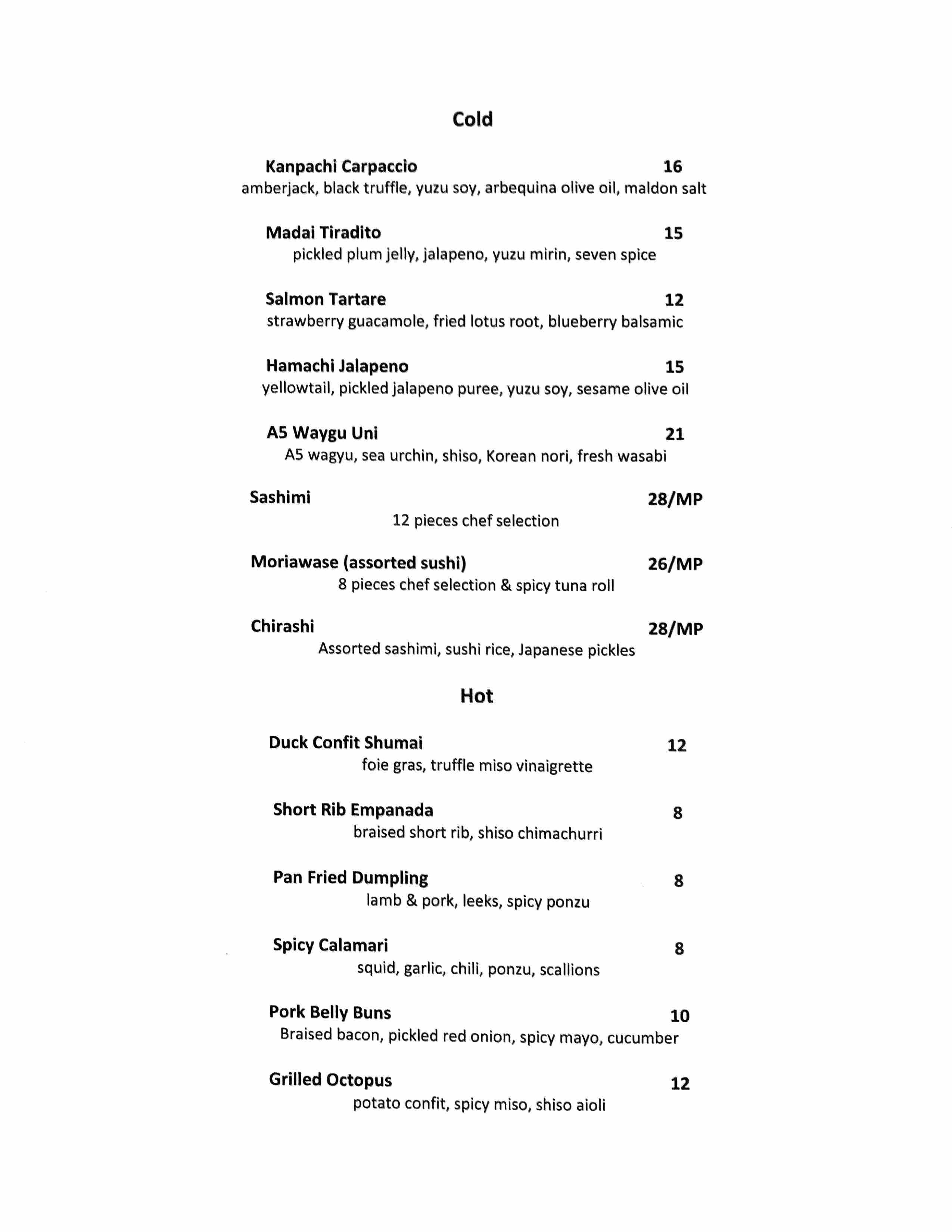 sushi hatsu menu ambler