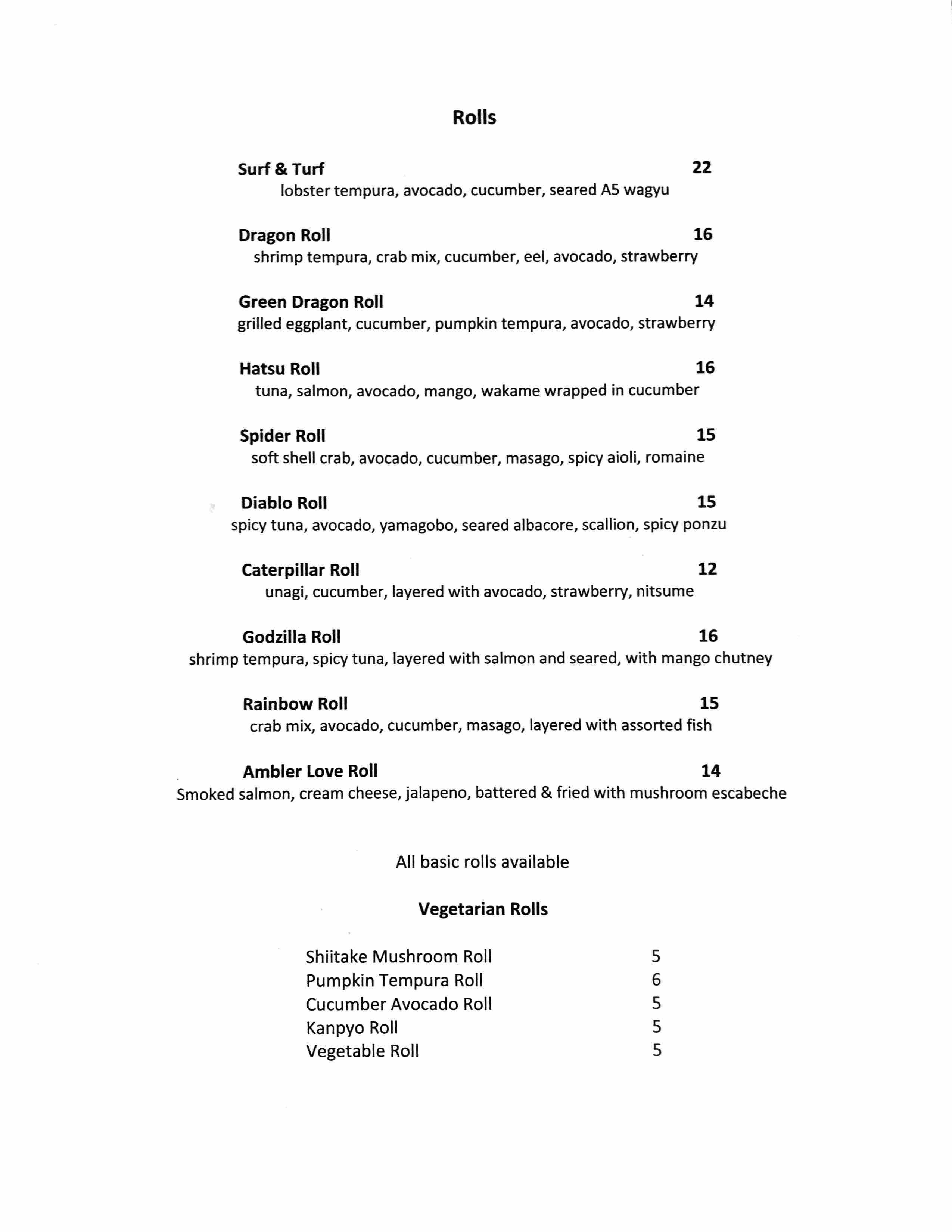 sushi hatsu menu