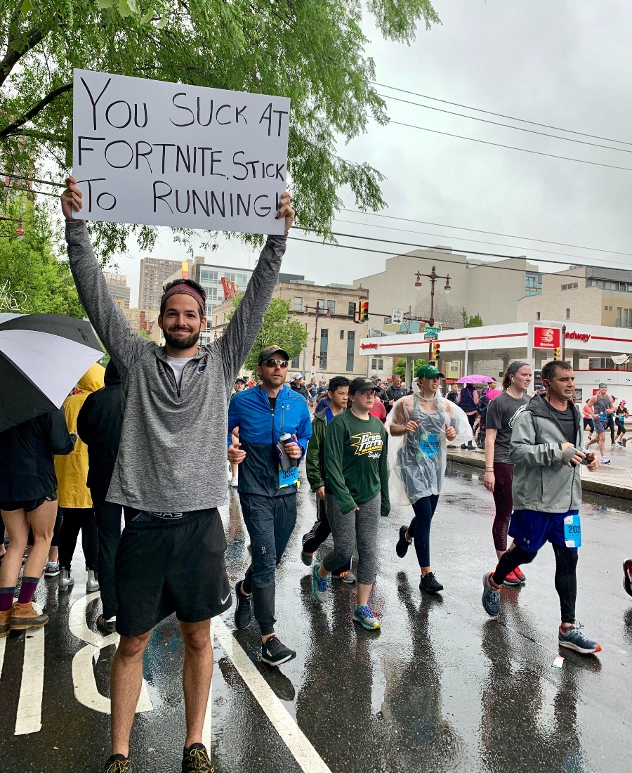 12 Signs We Loved At Philadelphia's 2019 Broad Street Run