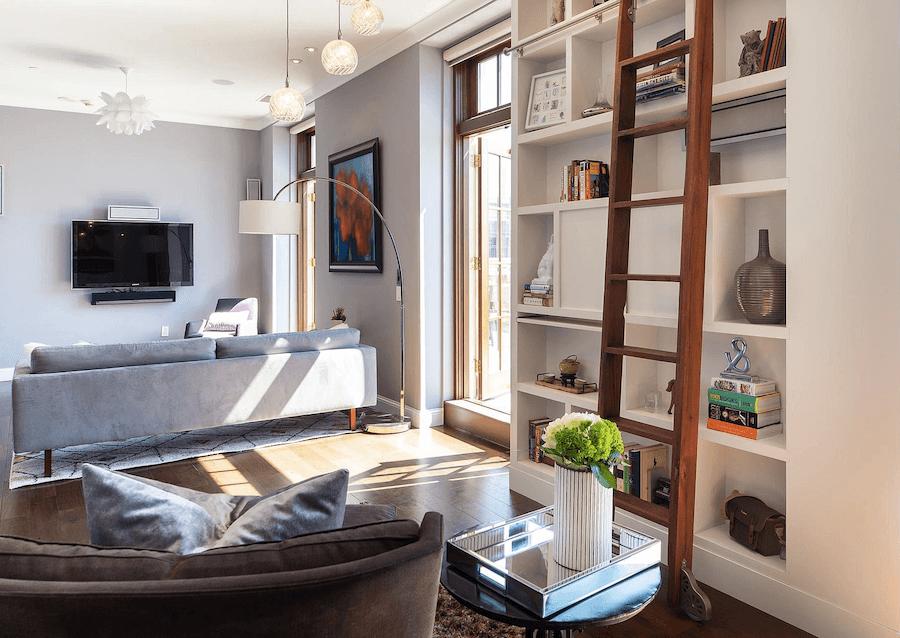 condo for sale logan square phoenix penthouse living room