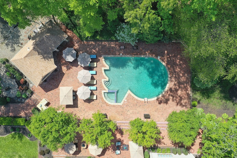 house for sale cherry hill clarke house aerial pool photo