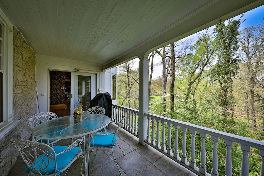 house for sale gwynedd valley edward smith mansion breakfast room balcony