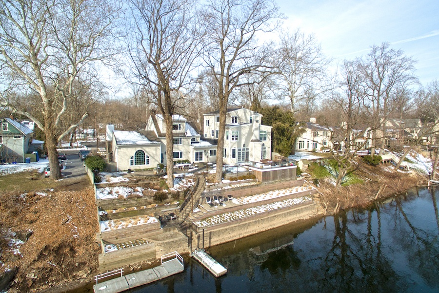 house for sale new hope boxwood studio rear exterior and terraces