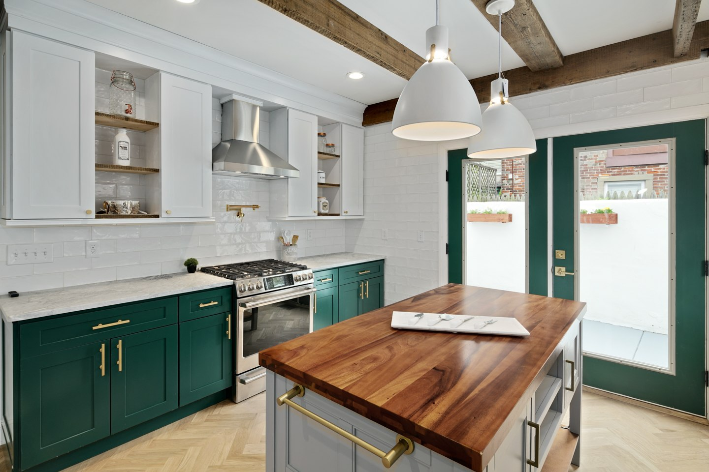 house for sale pennsport rehabbed expanded rowhouse kitchen