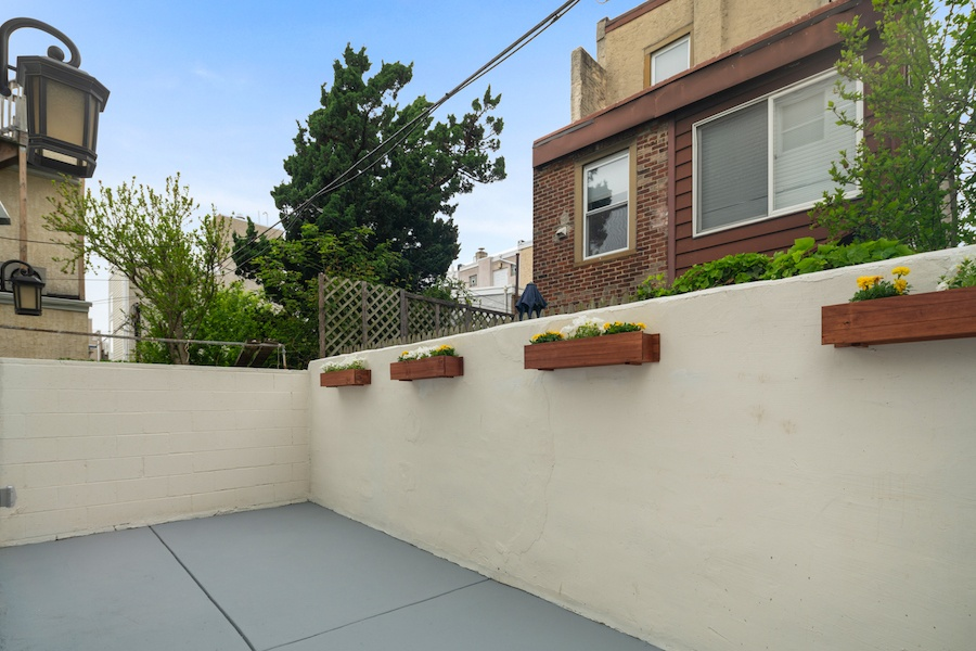 house for sale pennsport rehabbed expanded rowhouse rear patio