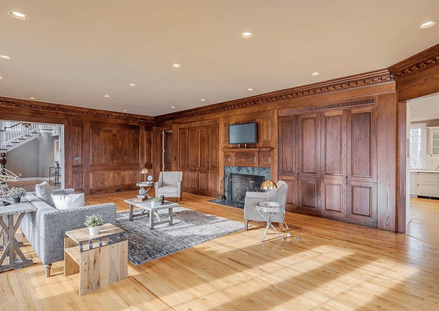 house for sale villanova expanded tudor family room
