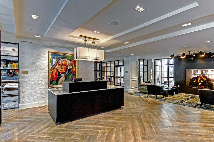 maybrook apartment profile concierge desk and lobby