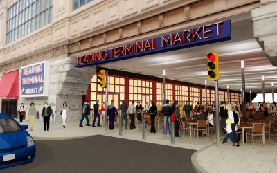 reading terminal market filbert street pedestrian plaza philadelphia