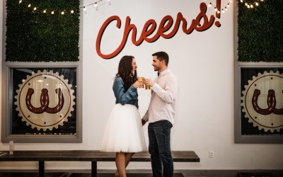 workhorse brewing engagement photos